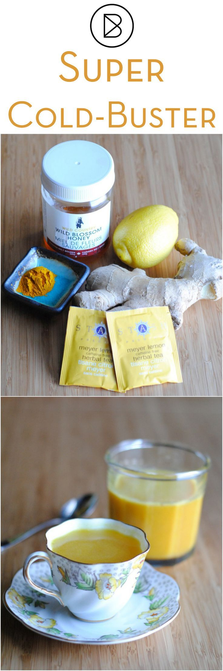 Super Cold-Buster! This anti-inflammatory concentrate is soothing when you have a cold or flu. Replace the honey with maple syrup or agave for a 100% vegan version.   http://theblenderist.com/cold-buster-anti-inflammatory-concentrate/ #theraflu #neocitran #lemsip