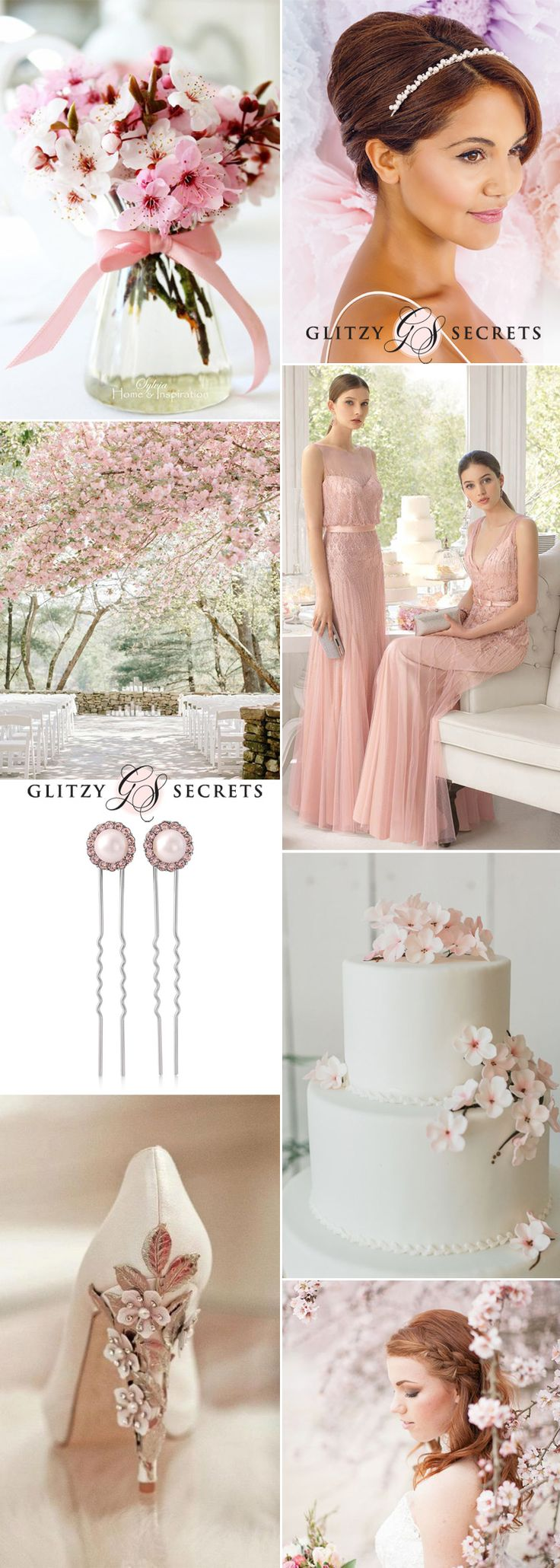 Cherry blossom - a pretty Spring wedding theme on GS Inspiration - Glitzy Secrets