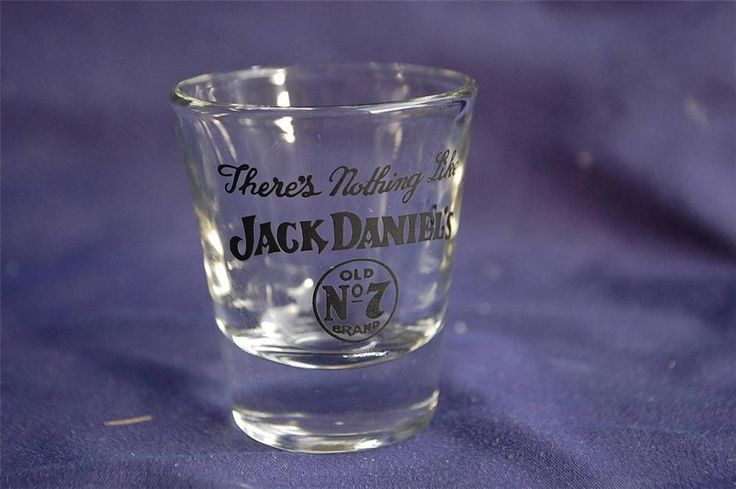 """Jack Daniels """"There's Nothing Like..."""" Whiskey Shot Glass Tennessee Whisky No 7"""