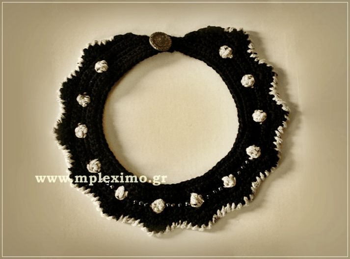 bubbles crochet collar, from mpleximo.gr