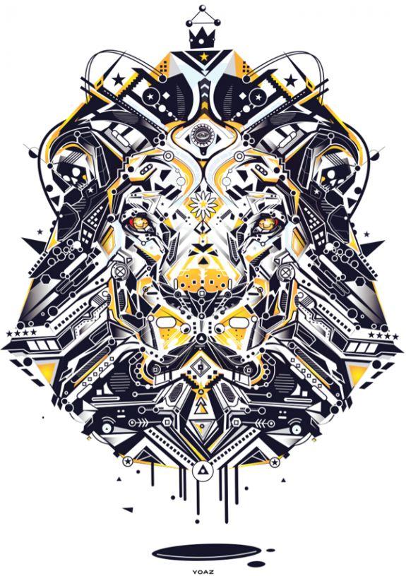 oYo Az Lion Illustration