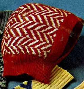 NEW! Children's Knitted Hood pattern from Hats-Mittens-Socks, Coats & Clark's Book No. 135 from 1962.