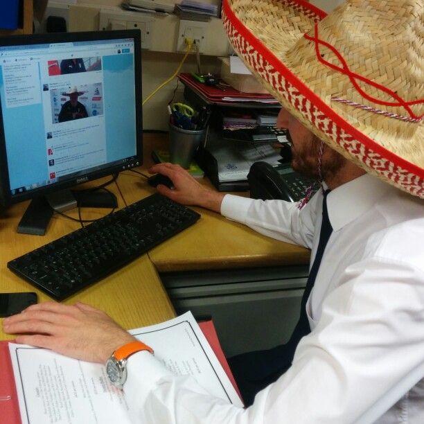 Embracing #sombreroforsteve in the office #UTM
