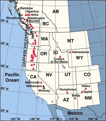 Map Of Major Volcanoes Of Mexico Geology Pinterest Kartat Meksiko Ja Tulivuoret