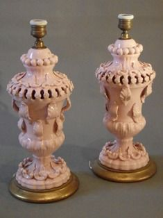 A Lovely Pair of Pink Casa Pupo Lamps Mid 20th C