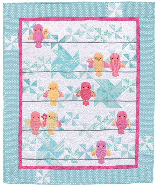"Ready for a dose of downright darling baby quilts? Start with simple patchwork backgrounds; add a dash of adorable appliqué animals. Click through for more ""Awww!"" inspiring quilts from the new book Animal Parade 2."