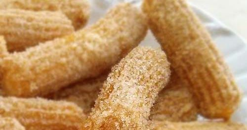 Homemade Churros   Ingredients:  1 cup water  5 tablespoons butter  1 tablespoon sugar  ¼ teaspoon salt  1 cup all purpose flour  2 eggs  1...