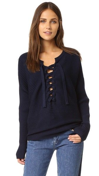 Designers Remix Ribly String Lace Up Sweater | SHOPBOP