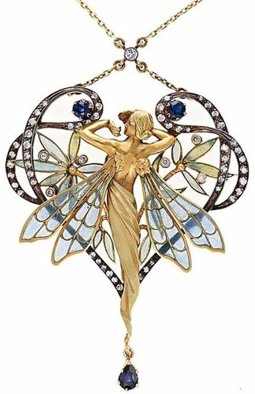 Art Nouveau jewelry by Barcelona-born designer Lluis Masriera Roses