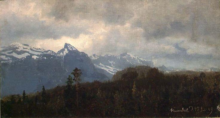Hans Gude, Fra Hemsedal. 4. juli 1849