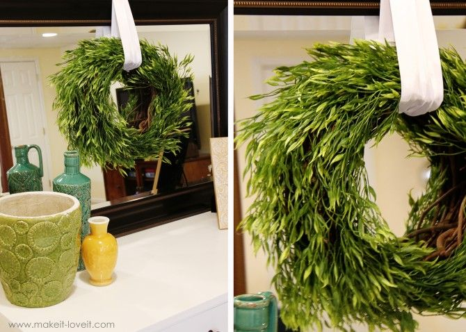 I have a fragrant eucalyptus tree in my yard that would make a great twist on this project!