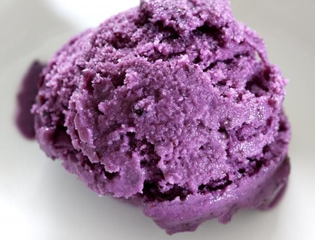 """Blueberry Ice Cream: """"This was the BEST ice cream to come from our little ice cream maker yet! It was so creamy and a regal shade of purple.""""-jackieliz"""