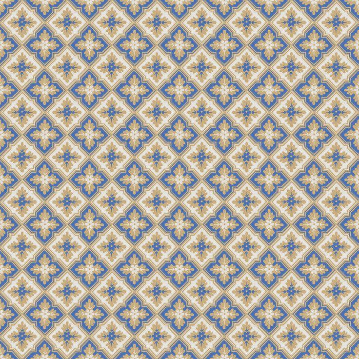 Tapet – Edvin blue/beige/white från Byggfabriken