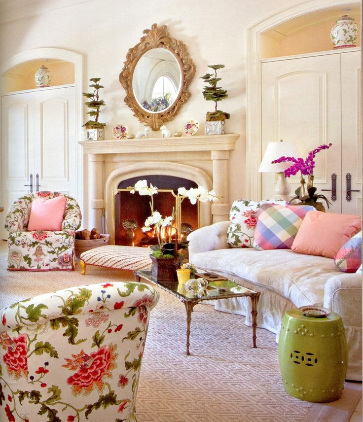 17 best images about interior design mario buatta on Floral living room furniture sets