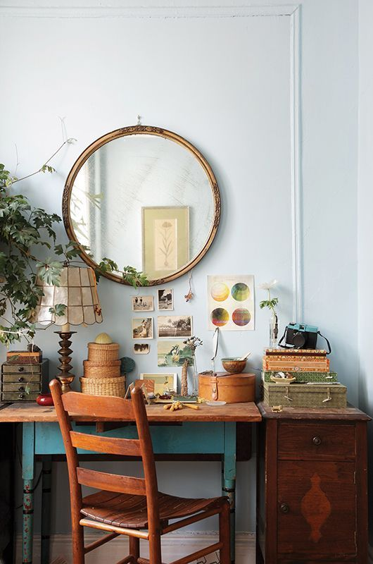 Brooklyn home of Nicolette Camille Owen, from the pages of design*sponge book, via garden design.  do you ever get the urge to embrace your inner hippie — live that truly bohemian lifestyle? sometimes