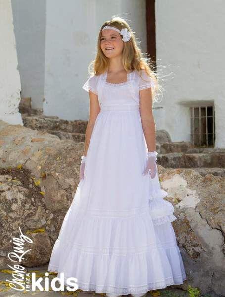 Las 25 mejores ideas sobre vestidos de comunion sencillos for Suelto blanco suelto barato