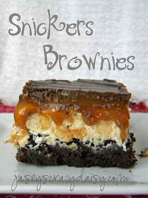 Snickers Brownies - Recipes, Dinner Ideas, Healthy Recipes & Food Guides
