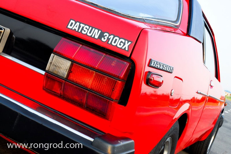 1980 RED DATSUN 310 GX my 1st car! Car's I've owned