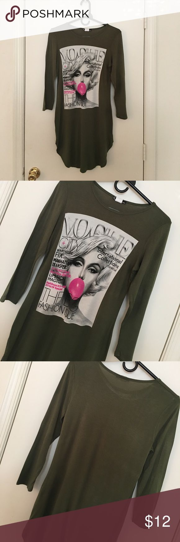"Green ""vogue magazine"" dress Green mini dress ""vogue magazine"" Dresses Mini"