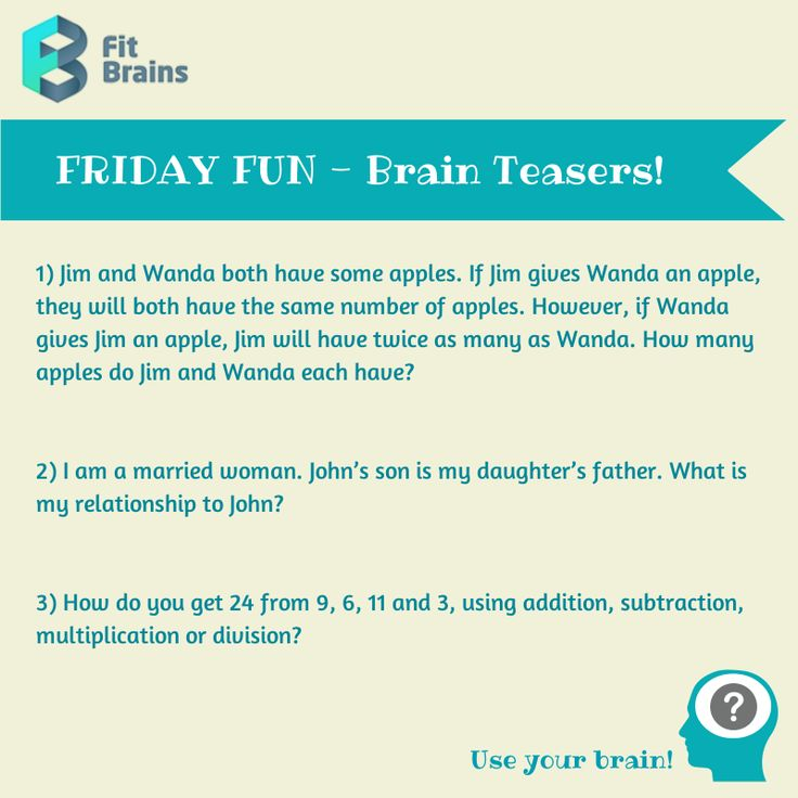 7 best brain teasers images on Pinterest | Puzzles, Fun brain and ...