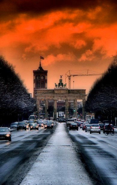 The Brandenburg Gate in Berlin, Germany