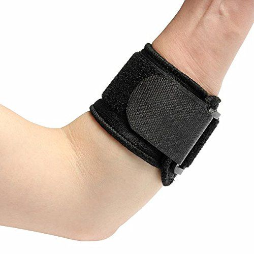 Elbow Support Sports Tennis Fitness Elbow Support. Provides firm support for weak elbow,helps to prevent and treat stress injuries. Recommended for elbow sprains and strains.It is comfortable to wear,won't wrinkle or bind. Efficacy Heat treatment:.