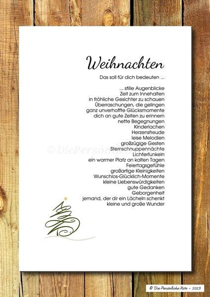 Weihnachtsdeko - Druck/Wandbild/Print: Segenswunsch - Weihnachten - ein Designerstück von DiePersoenlicheNote bei DaWanda