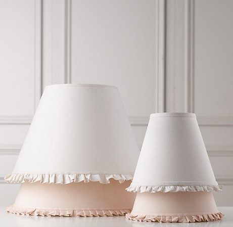 DIY Lampshades - the underneath ones are pink or nude x
