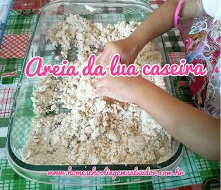 Areia da lua caseira #homeschooling #homeschoolingemsalvador #homeschoolinglife #kidsactivities #moonsand #sensorialactivity #sensorial