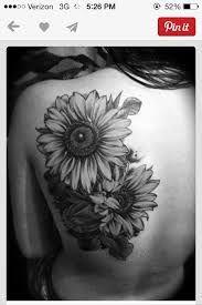 Image result for gerbera realism shoulder tattoos black