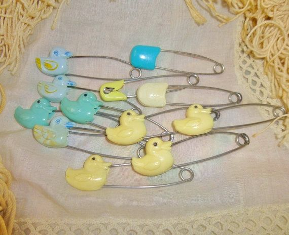 Vintage Diaper Pins Shabbic Chic Ducks by RomanticallyVintage, $6.00