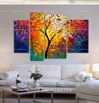 ... Directly From China Painting Teaching Suppliers: Handpainted Oil  Painting Palette Knife Paintings For Living Room Wall Large Canvas Art Cheap  Abstract ... Part 40