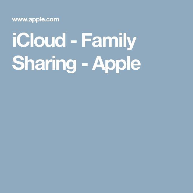 iCloud - Family Sharing - Apple
