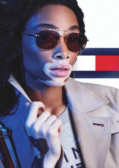 6e2556ce1f3 Stunning Winnie Harlow with these Tommy Hilfiger sunglasses! Shop the new  collection on our site!