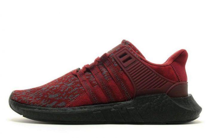 adidas EQT Support 93/17 Burgundy Red Black - Sneaker Bar Detroit