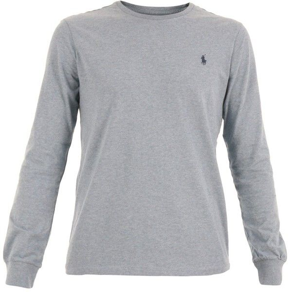 Ralph Lauren Men's Grey Cotton T-Shirt (€120) ❤ liked on Polyvore featuring men's fashion, men's clothing, men's shirts, men's t-shirts, grey, sweaters, polo ralph lauren mens shirts, ralph lauren mens t shirts, mens grey shirt and mens gray dress shirt