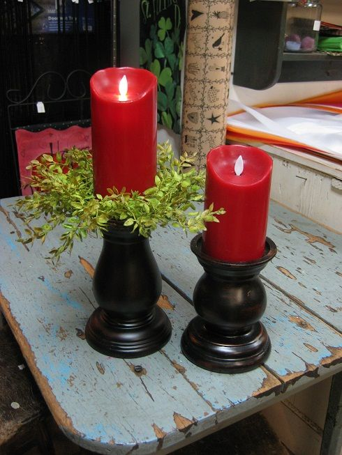 Luminara Flameless Candles & Holders, they look great!