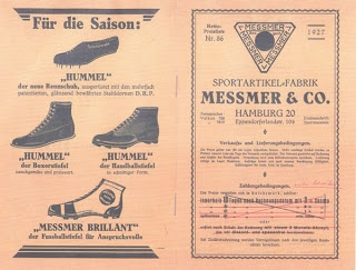 Hummel advert from 1927 - including football boots