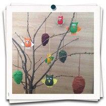 Uiltjes en dennenappels ~ www.knutselboom.nl