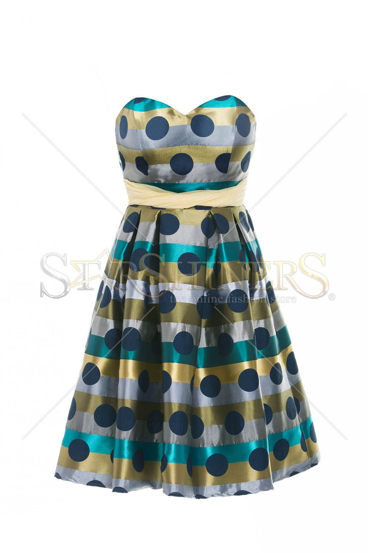 LaDonna Dots Modesty Green Dress