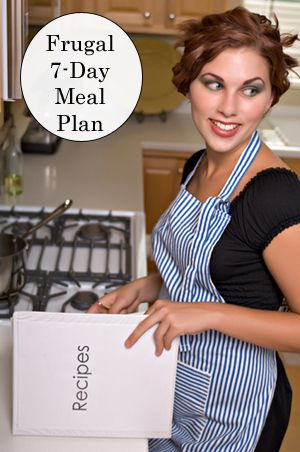 Plan to reduce your grocery bill with these super-frugal seven day meal plans.