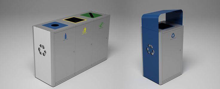 Magnuson Group UMEA customizable waste receptacles
