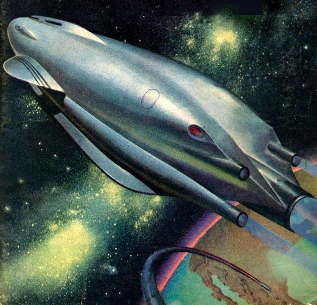 """17 Best Images About Classic Fantasy And Sci Fi Art On: Beautiful 1940s-era Spaceship, From """"The Stars Look Down"""
