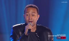 "John Legend Performs ""All of Me"" With Jennifer Nettles and Hunter Hayes at CMT Awards"