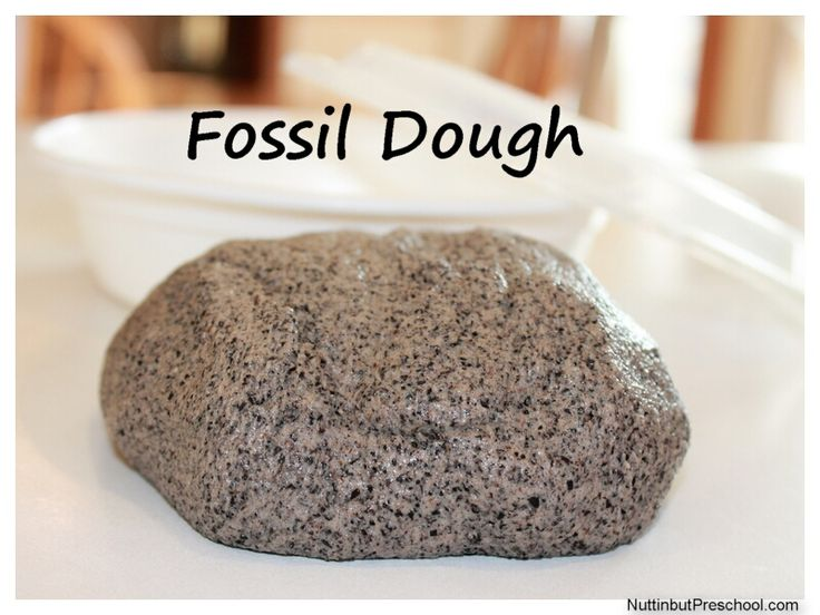 » How to Make Fossil Dough Nuttin' But Preschool