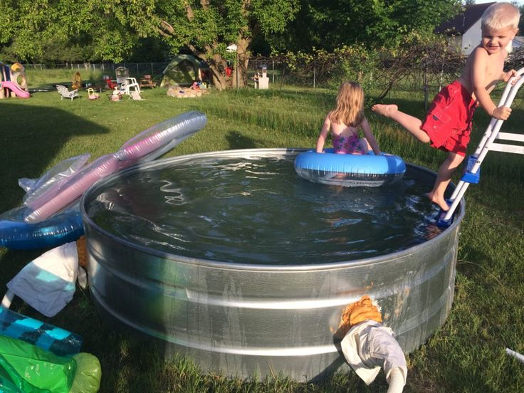17 best ideas about stock tank on pinterest galvanized - How to build a swimming pool yourself ...
