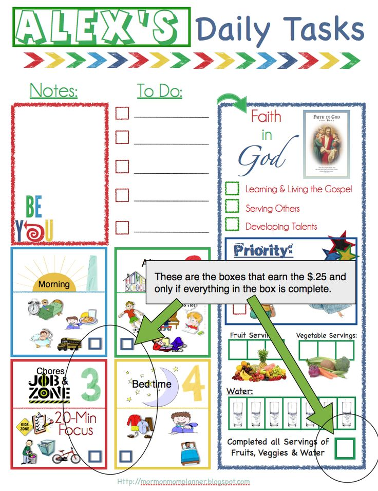 free download of lds daily task chart for kids  has one