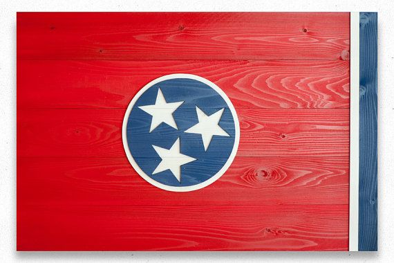 Tennessee Wood Flag Tennessee Wooden Flag Tennessee by PatriotWood