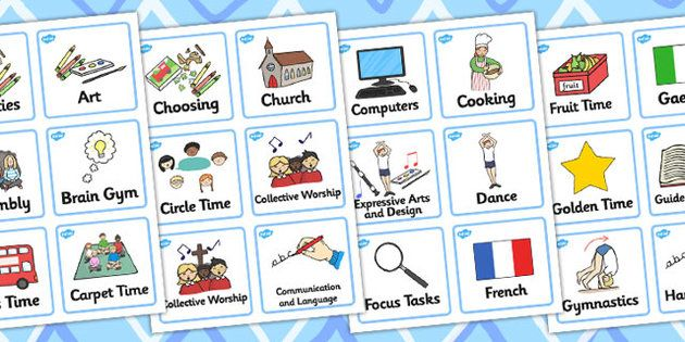 Reception / Foundation Stage 2 Visual Timetable - Visual