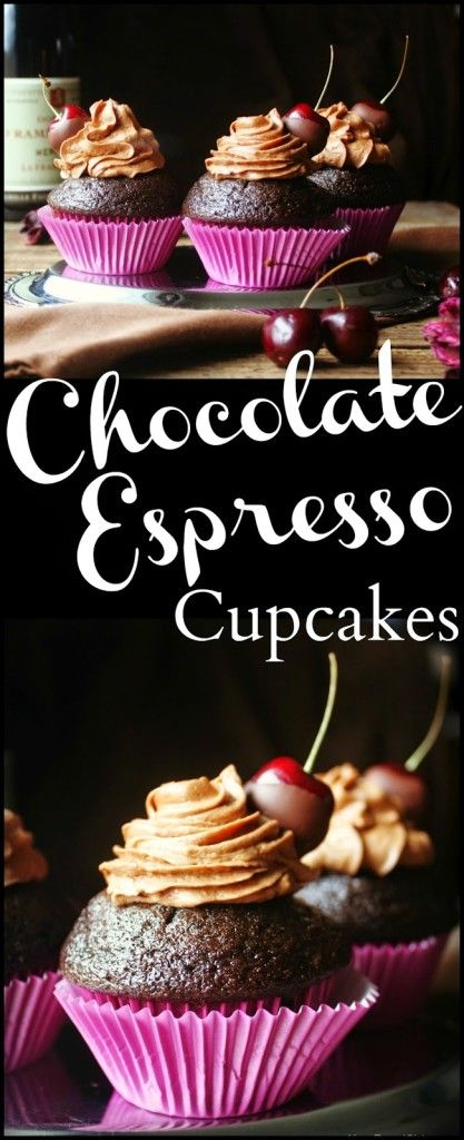 Chocolate Espresso Cupcakes with Chocolate Covered Cherries - Daily Appetite